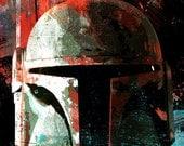 Boba Fett from Star Wars art print from an original illustration - 8x10