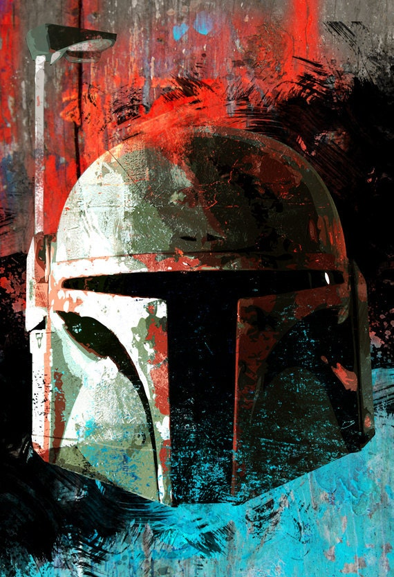Boba Fett from Star Wars art print from an original illustration - 8x10