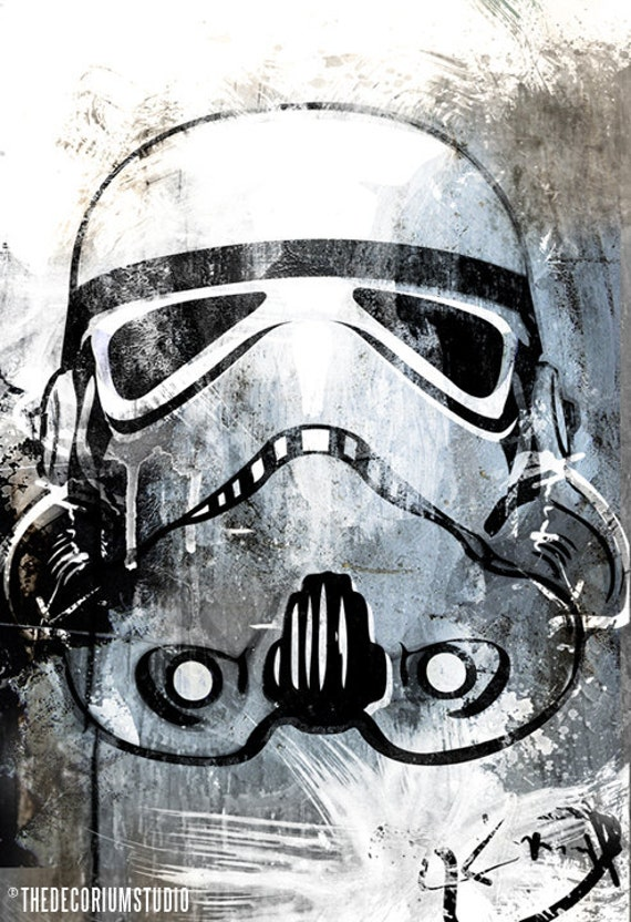 Storm Trooper from Star Wars illustration by TheDecoriumStudio