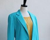 Turquoise Blue Summer Jacket