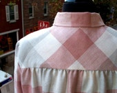 Vintage One Button Checkered Jacket - 1970s - Size 14