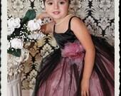 Rose Bud Princess Dress with Matching Headband.