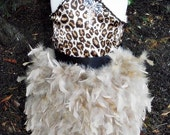 Classy Diva Girls Cute Feather Skirt and Silk Top