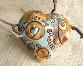 """Heart  Shaped  Wall Plaque with saying """"You Are My Sunshine"""" -Ceramic"""
