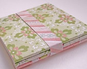 Small handmade notebooks, set of 3 -SALE-