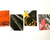 Mini envelopes Les miniature Punkvelopes, made from punk rock posters