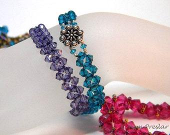 TUTORIAL - How to Make a Crystal Bracelet using Swarovski Elements, PDF file only