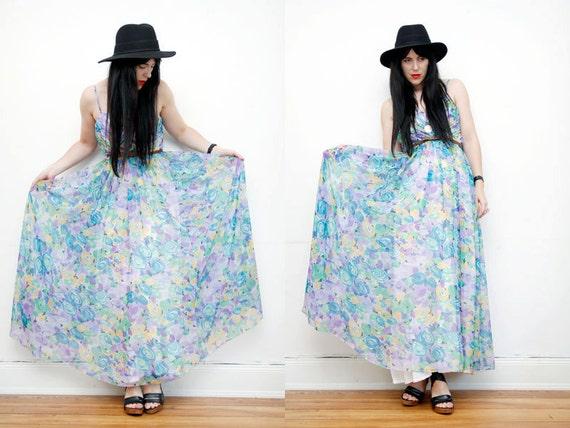 AMAZING Floral Maxi Floaty Boho Hippie Wedding Maxi Dress