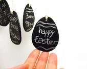 Chalkboard Egg tags or ornaments - set of four