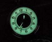 Steampunk Pocketwatch - Luminous Cobweb - Glowing Skeleton Pocket Watch on a Pocket Watch Chain