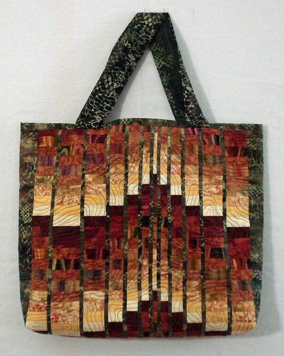 Quilted Bargello Tote Bag