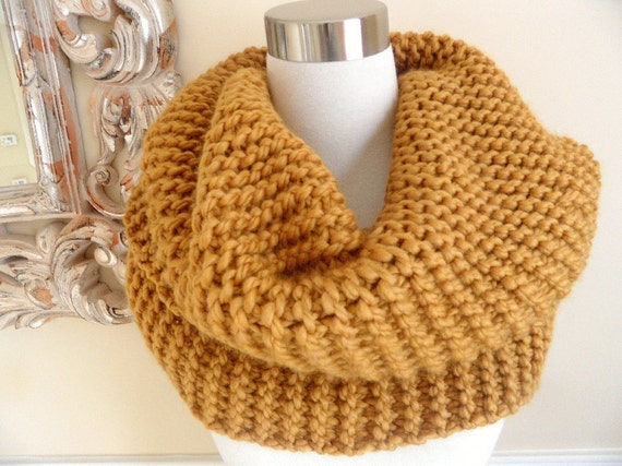 The Golden Super Chunky Knit  Cowl