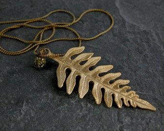 Halloween Necklace, Halloween Custome, Necklace, Gold Necklace ,Gold Natural White Fir Leaf Necklace ,Swarovski Crystal Necklace
