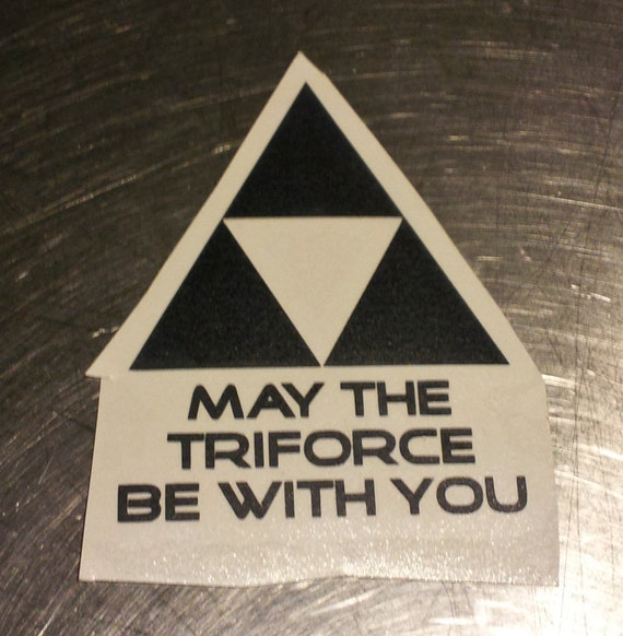 May The Triforce Be With You Vinyl Decal