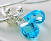 Gemstone Earrings Interchangeable Jewelry Blue Topaz Citrine Peridot Sterling Silver Wire Wrapped Complimentary Shipping