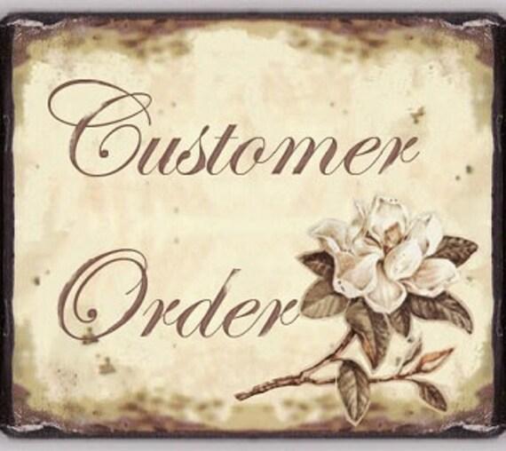 Customer order for Sarah
