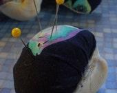 Mermaid's Pin Cushion- Navy Tropical Fish