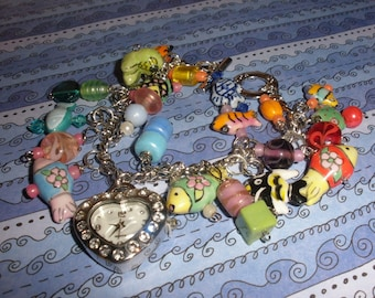 I love Fish Charm Bracelet/ Watch