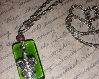 Green Sea Turtle Necklace