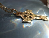 Celtic Cross solid 14k gold
