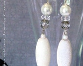 White Bridal or Formal Wear Earrings- 5 STYLES to chose from
