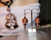 Shades of Sand (shades of brown) earrings and necklace set