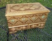 Vintage Royal Sealy Wood Jewelry Box