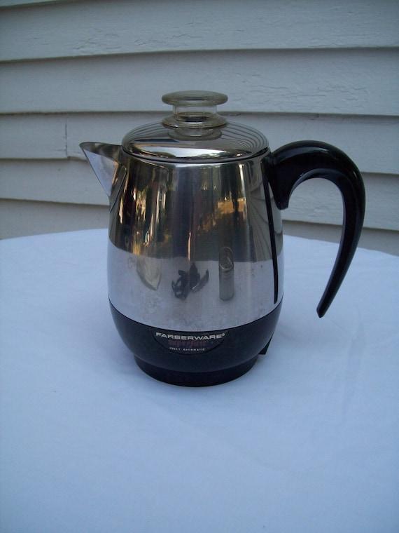Vintage Electric Coffee Maker : Vintage Faberware Electric Percolator Coffee Maker 4 cup