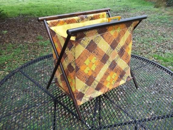 Vintage Standing Knitting Sewing Bag