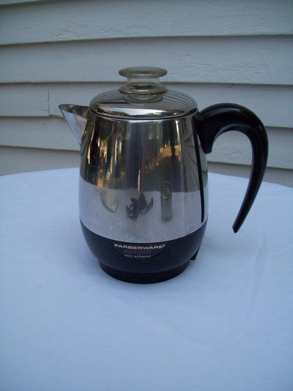 Farberware Coffee Maker Ratings : Vintage Faberware Electric Percolator Coffee Maker 4 cup