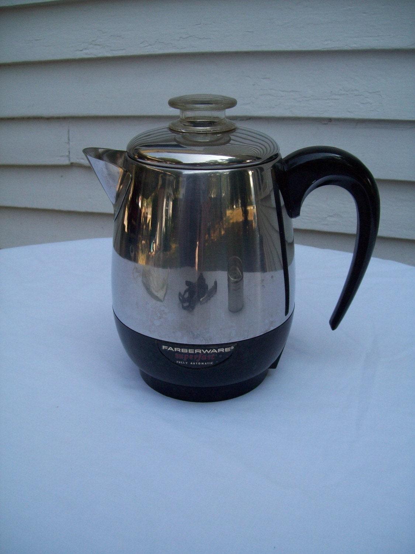 Coffee Maker Not Percolating : Vintage Faberware Electric Percolator Coffee Maker 4 cup