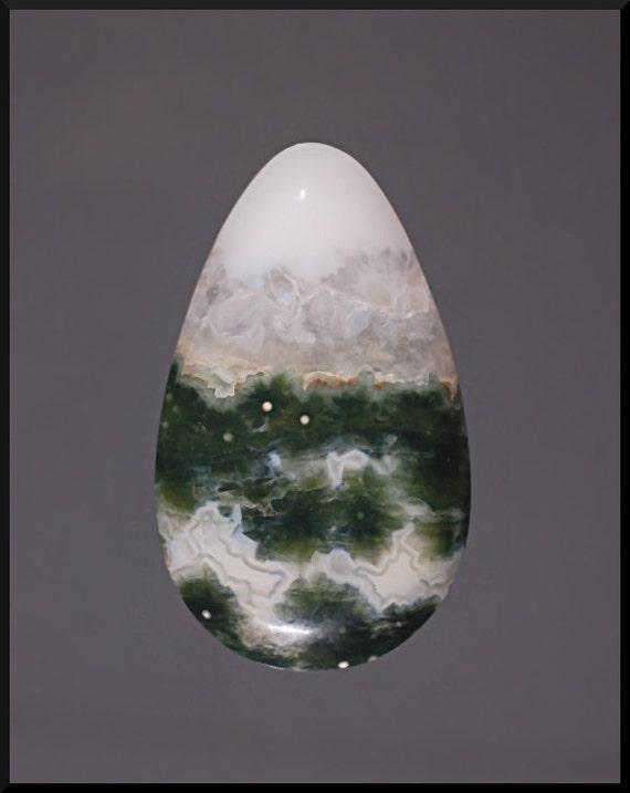 Ocean Jasper Cabochon, Handmade Designer Cabochons by MagicStones on Etsy