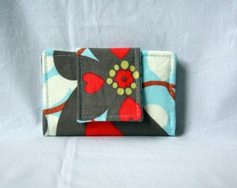 Business Card Holder / Mini Wallet - Amy Butler Morning Glory Small Wallet / Card Wallet