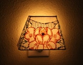 Reserved for Melissa :  Vintage Peony Embroidered Nightlight