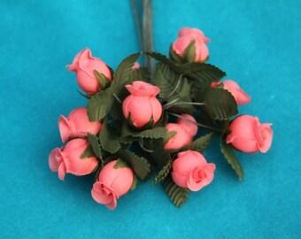 1inch Poly Rosebuds Watermelon 144pcs
