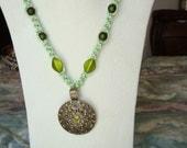 Macrame Fashion Neclace (Mint Green)