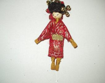 Macrame Doll Ornament 6