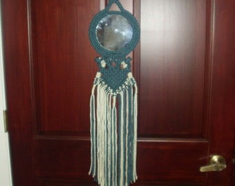 Macrame Wall Hanging Denim Reflections