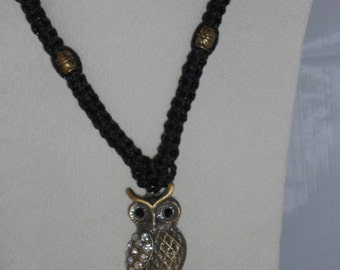 Macrame Owl Pendant Necklace