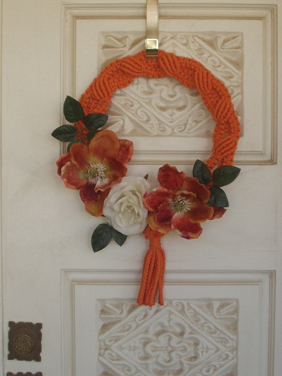 Macrame Wreath with Floral