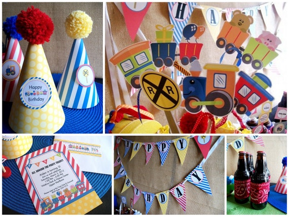 Toy Train Deluxe Printable Party Kit