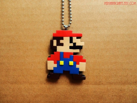 Super Mario Pixel Necklace 8-bit