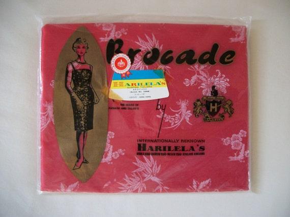 Vintage 60s 70s Brocade Fabric 5 yds /Dress Fabric