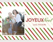 Custom Holiday Photo Card - Candy Stripes