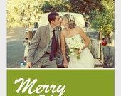 Custom Holiday Photo Card - Vintage Diamonds