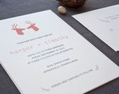 Wren Hipster Wedding Invitation