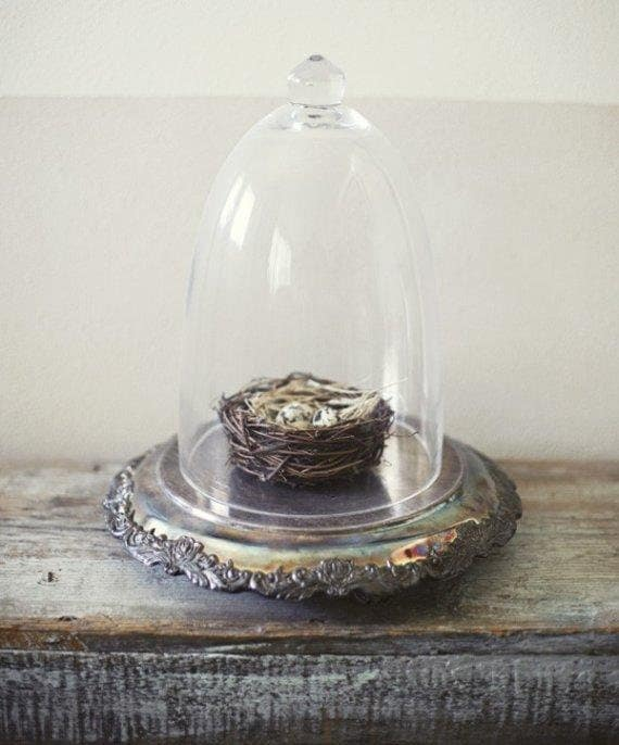 RESERVED FOR MICHELLE.  Ornate Silver Cake Plate