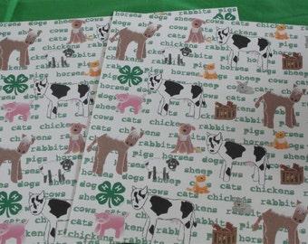 4-H 12x12 animal paper