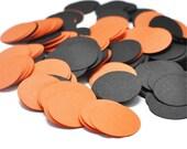 CLEARANCE Halloween Party Decor - 1 Inch Orange and Black Confetti - Halloween Confetti Decoration - Orange and Black Birthday Party