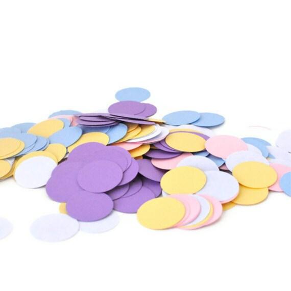 Birthday Party Confetti - Purple, Yellow, Pink, and Blue Confetti - Girls Birthday Party Decoration - Wedding Decor - Princess Birthday